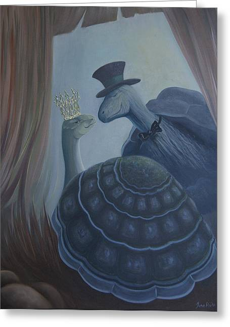 Greeting Card featuring the painting Voulez Vous Danser Avec Moi Ma Tendresse by Tone Aanderaa