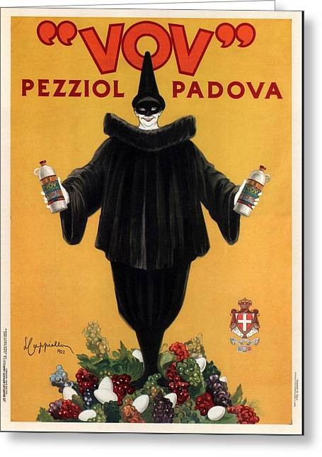 Vov Pezziol - Italian Liquer - Padova, Italy - Vintage Advertising Poster Greeting Card