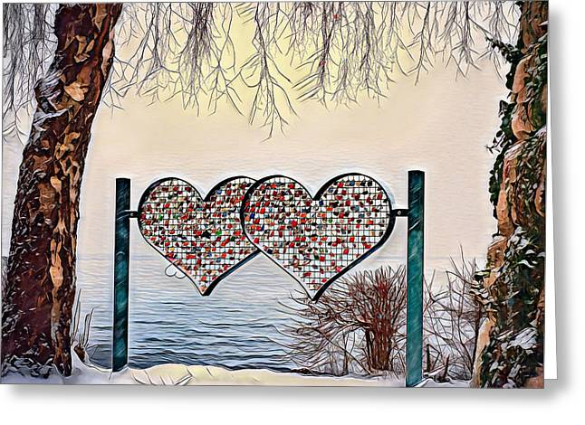 Greeting Card featuring the digital art Vow Of Love by Pennie McCracken