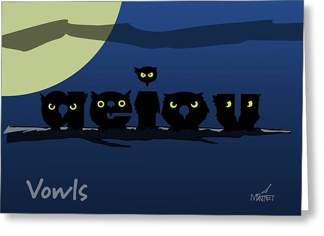 Vowls Greeting Card
