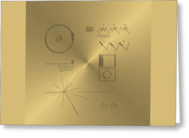 Voyager Golden Record Cover Greeting Card
