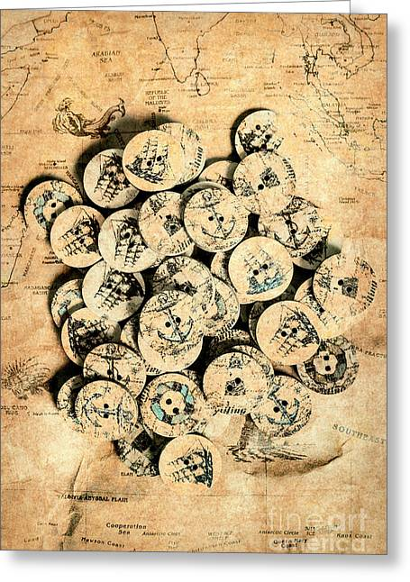 Voyages Of Old World Greeting Card