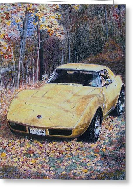 Greeting Card featuring the mixed media Vrooom by Constance Drescher