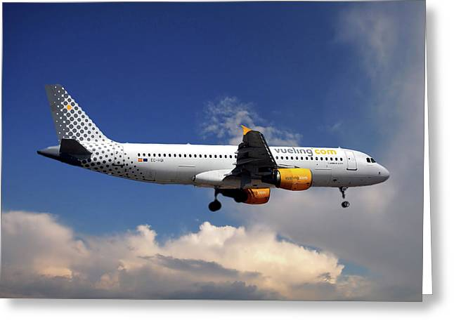 Vueling Airbus A320-214 Greeting Card