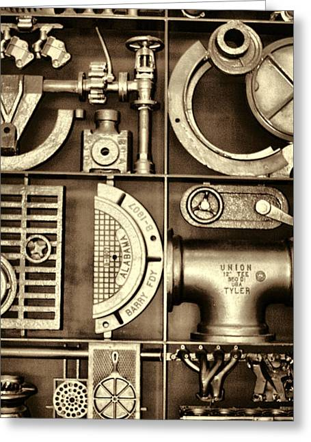 Vulcan Steel Steampunk Ironworks Greeting Card