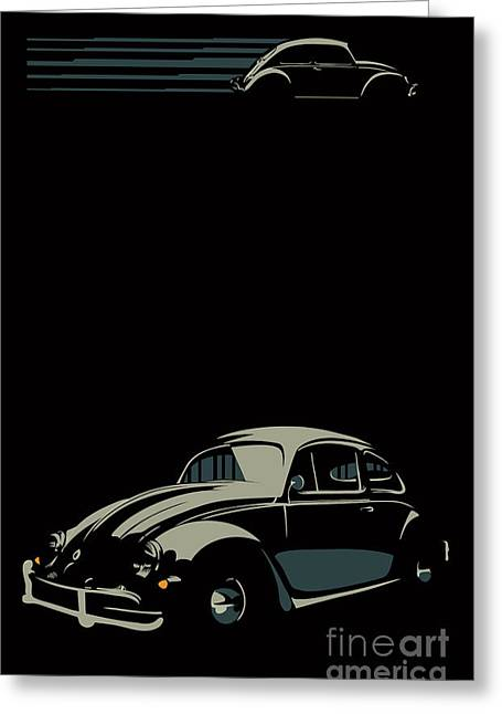 Vw Beatle Greeting Card