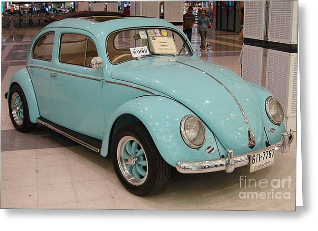 Vw Beetle Greeting Card by Mike Holloway