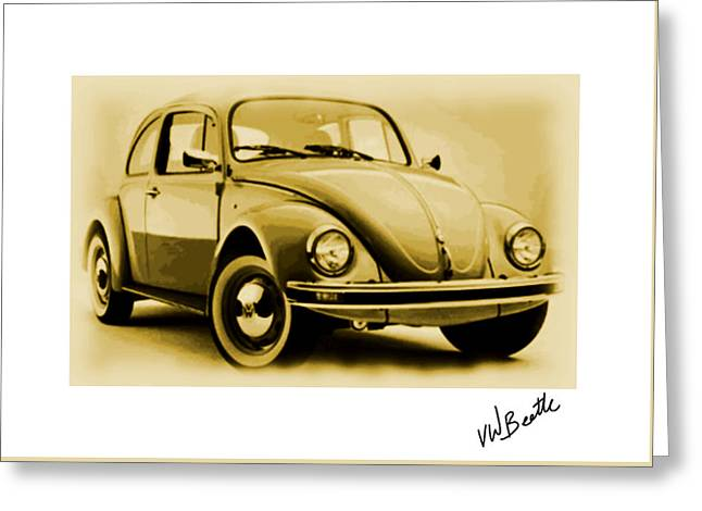 Vw Beetle Greeting Card by Enki Art