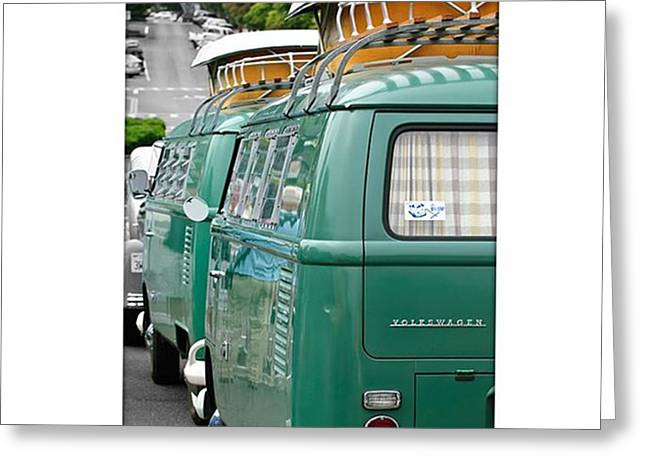 Vw Buses #carphotographer #vw #vwbus Greeting Card