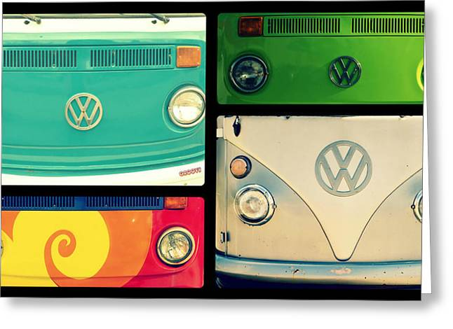 Vw Collage Greeting Card