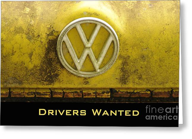 Vw Drivers Wanted Greeting Card