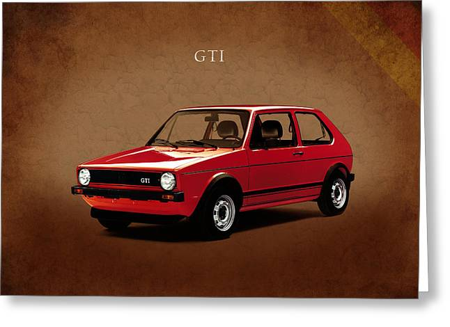 Vw Golf Gti 1976 Greeting Card by Mark Rogan