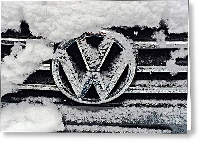 Vw Snow Day Greeting Card