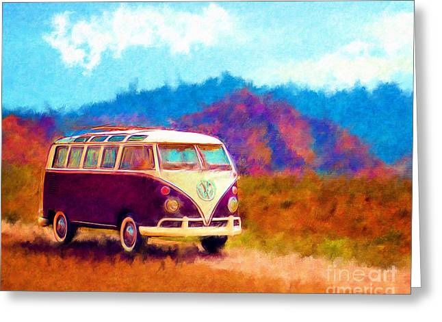 Vw Van Classic Greeting Card by Marilyn Sholin