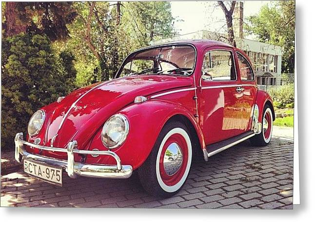 #vw #volkswagen #kafer #oldtimer Greeting Card