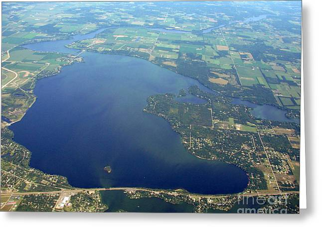 W-032 Wissota Lake Eau Claire County Wisconsin Greeting Card by Bill Lang