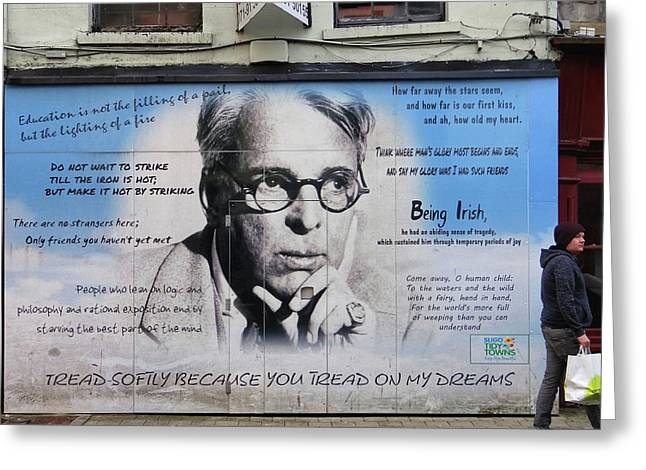 W B Yeats - Shop Front - Sligo Greeting Card