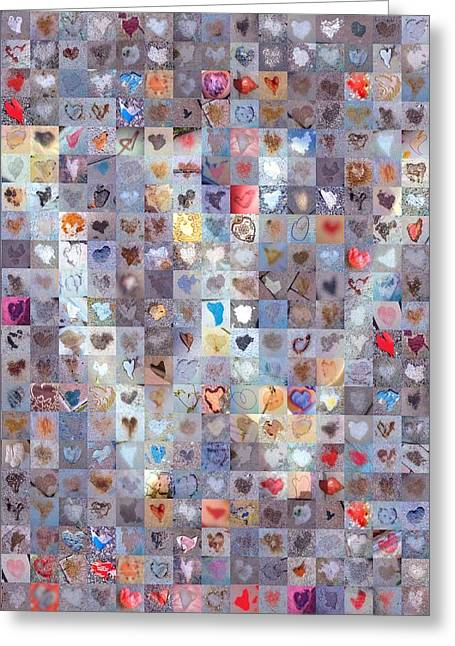 W In Confetti Greeting Card by Boy Sees Hearts
