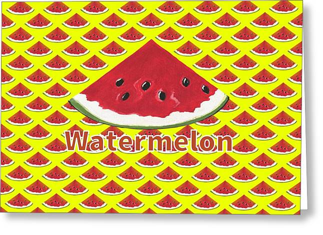 W Is For Watermelon Greeting Card
