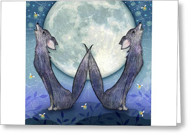 W Is For Wolves Greeting Card