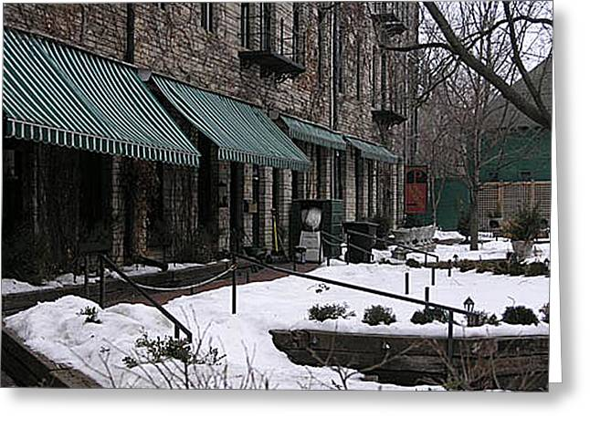 Wa Frost Patio Cathedral Hill Greeting Card