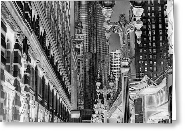 Wabash Avenue Greeting Card by David Bearden