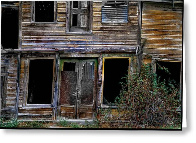 Wabi-sabi Cabin. Greeting Card by Leland D Howard