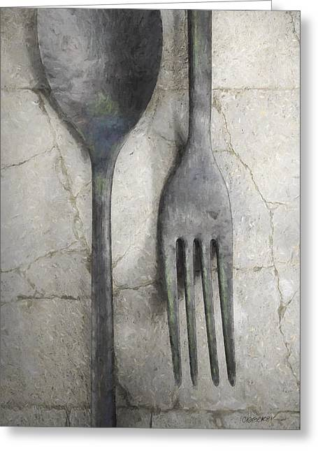 Wabi Sabi Utensils Greeting Card