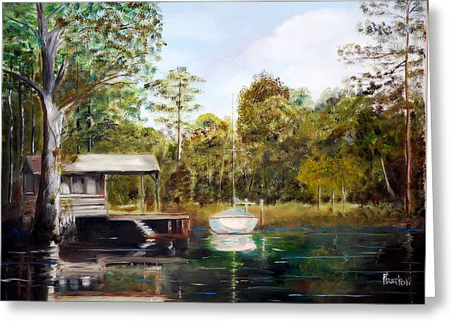 Waccamaw River Sloop Greeting Card by Phil Burton