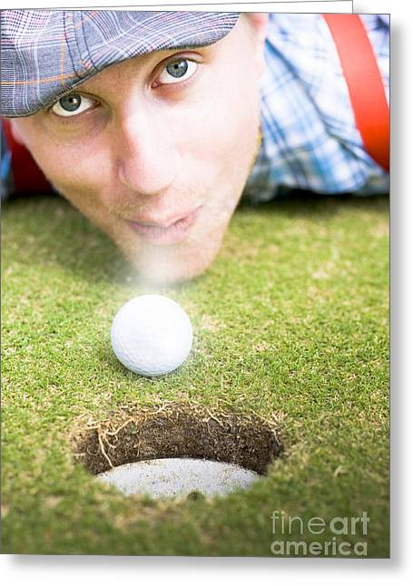 Wacky Golf Greeting Card