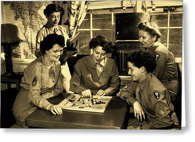 Wacs In Dorm - Oak Ridge Tennessee 1940s Greeting Card by Ed Westcott