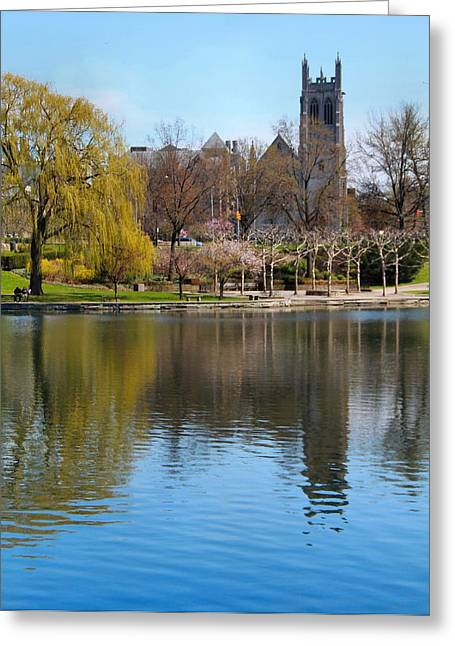 Wade Park District In Spring Greeting Card by Dan Sproul