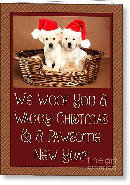 Waggy Christmas Greeting Card