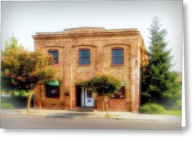 Wagner Leather Co. Engine Room Greeting Card by Terry Davis
