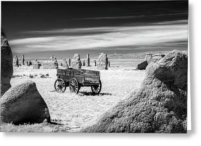 Wagon At Fort Union Greeting Card by James Barber