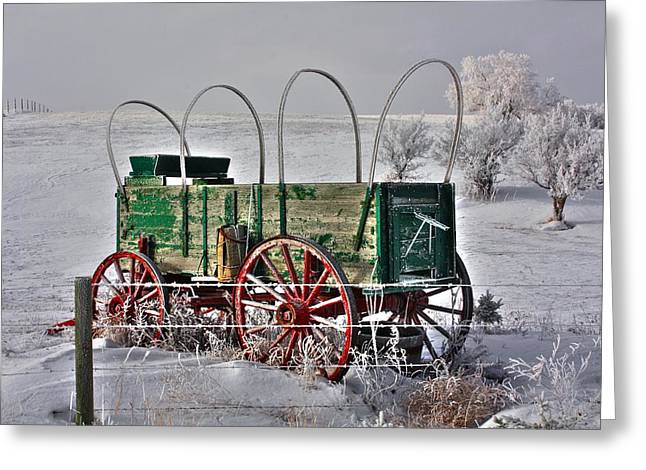 Wagon Greeting Card