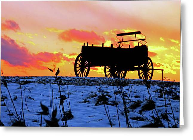 Wagon Hill At Sunset Greeting Card