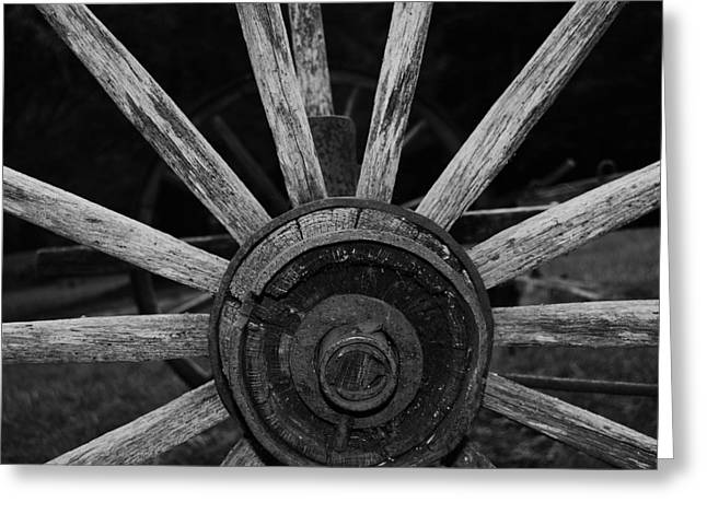 Wagon Wheel Greeting Card by Eric Liller
