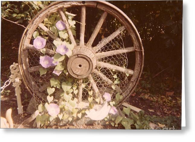 Wagon Wheel Memoir Greeting Card