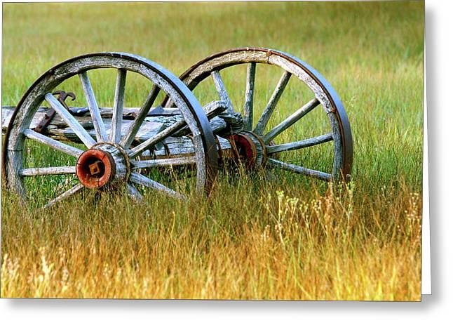 Wagon Wheels Greeting Card by Melanie Alexandra Price
