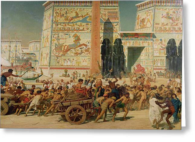 Hieroglyphics Greeting Cards - Wagons detail from Israel in Egypt Greeting Card by Sir Edward John Poynter