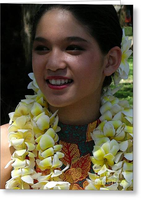Wahine Smile Greeting Card by James Temple
