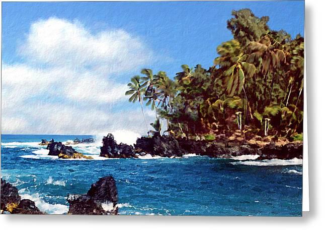 Waianapanapa Maui Hawaii Greeting Card by Kurt Van Wagner