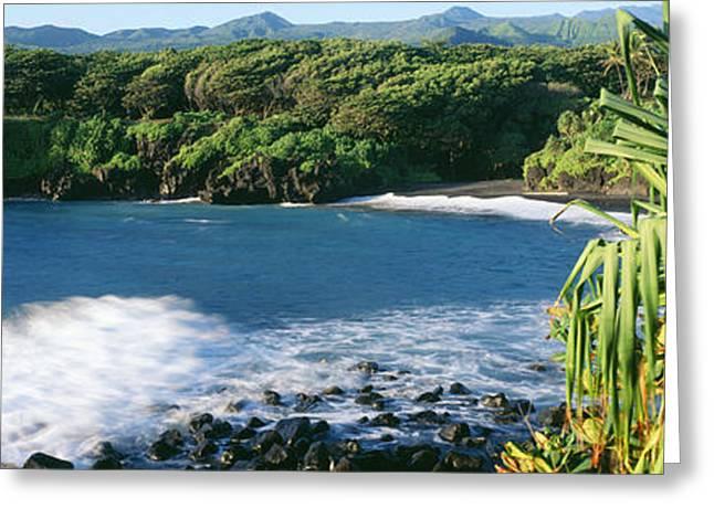 Waianapanapa State Park Greeting Card by Carl Shaneff - Printscapes
