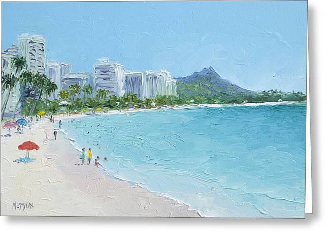 Waikiki Beach Honolulu Hawaii Greeting Card