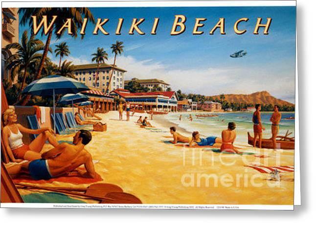 Waikiki Beach Greeting Card
