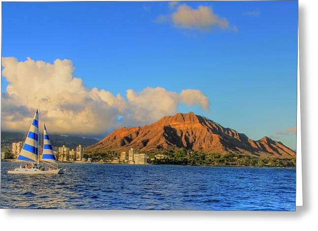 Waikiki Cruising Greeting Card