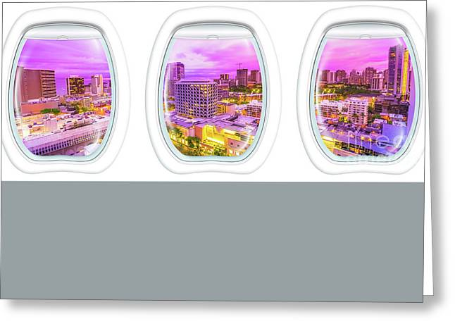 Waikiki Porthole Windows Greeting Card