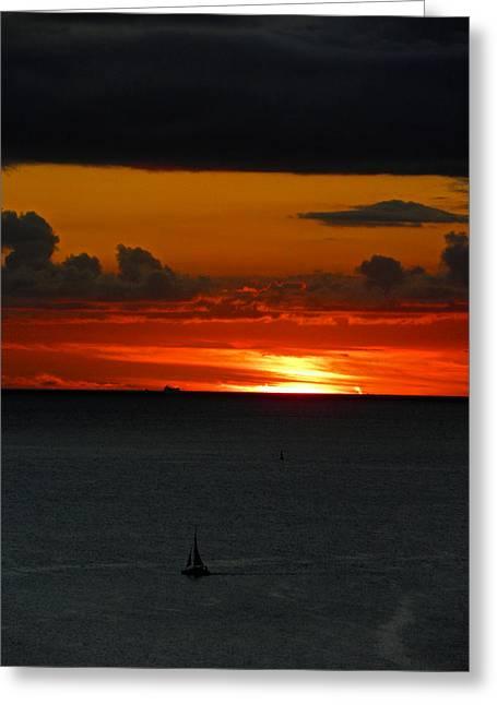 Waikiki Sunset Iv Greeting Card