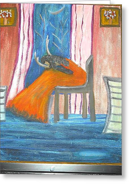 Wailing Woman Greeting Card by Betty Abrams